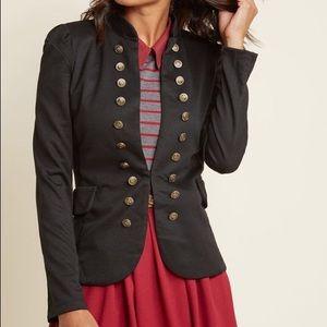 ModCloth She + Sky Black Nautical Military Jacket